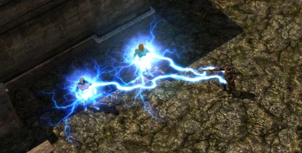 Grim Dawn's 7th mastery Inquisitor screenshot of the lightning spell