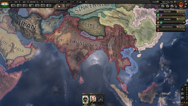 Hearts of Iron IV Together for Victory screenshot of India