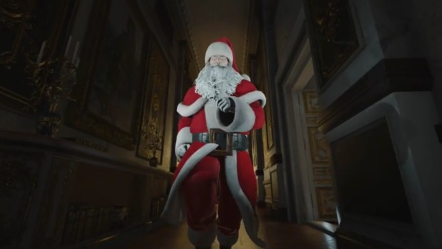 Hitman's Agent 47 dressed up as Santa Claus
