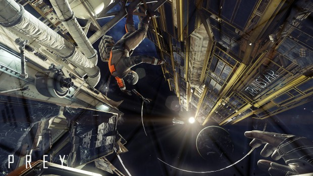 Zero gravity flying from the upcoming Prey game