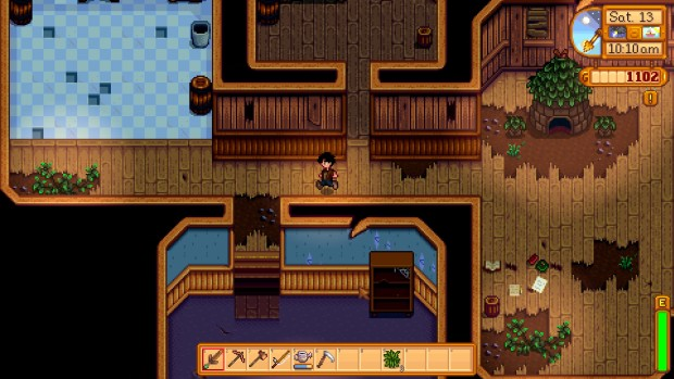 Stardew Valley's community center in its ruined state