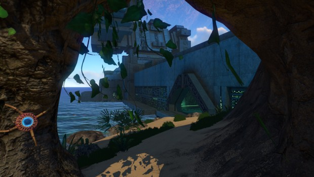 Subnautica - the outside of an alien base
