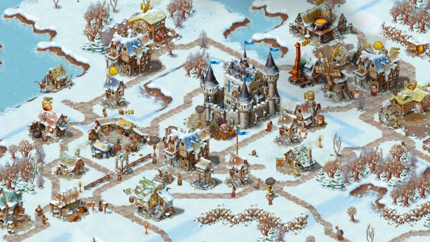Townsmen screenshot from the PC version