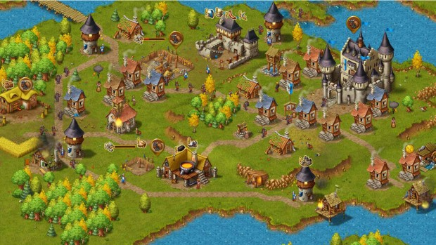 A small city from the recently released Townsmen game