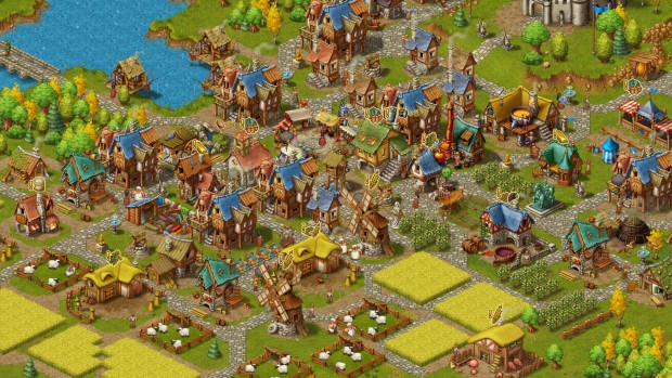 An extremely busy and packed city from Townsmen