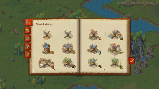 Some of the buildings you can construct in the newly released Townsmen