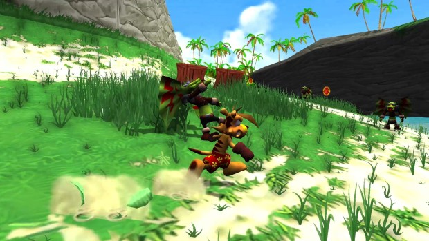 Ty the Tasmanian Tiger Steam screenshot showing a sunny coastline