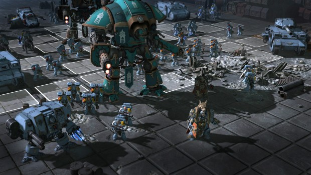 Warhammer 40k: Sanctus Reach screenshot of the Space Wolves up close