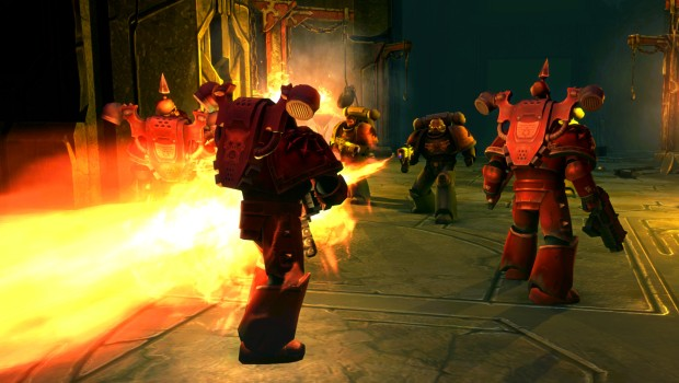 Warhammer 40k: Space Wolf PC screenshot showing the heavy flamer