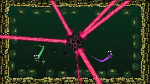 Gurgamoth is a local co-op 2D fighting game