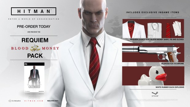 Hitman's recommended system configuration and preorder bonuses have been released