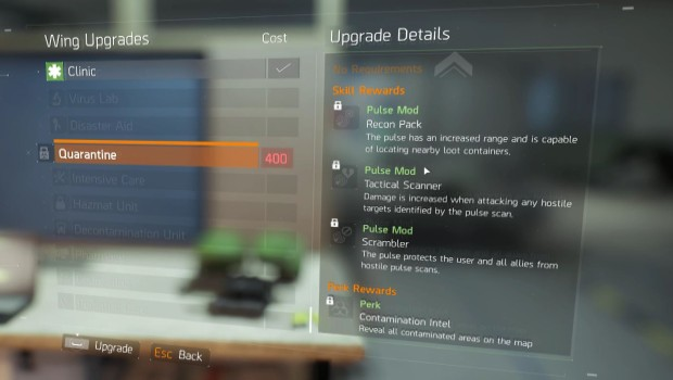The Division lets you upgrade your HQ