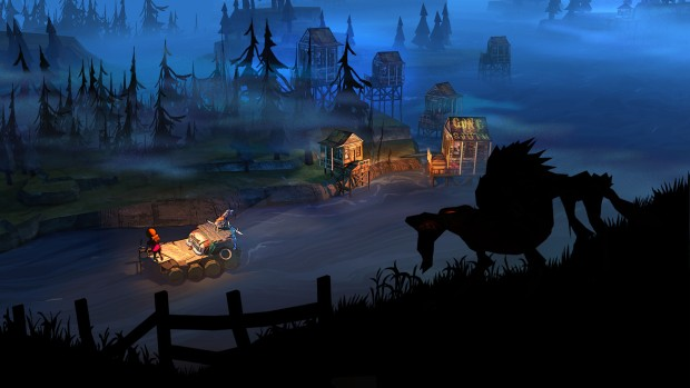 The Flame in the Flood official screenshot of a shadowy wolf