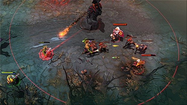 Dota 2 Spring Cleaning update Tower Range indicators
