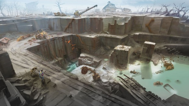 Fallout 4 quarry artwork is rather lovely