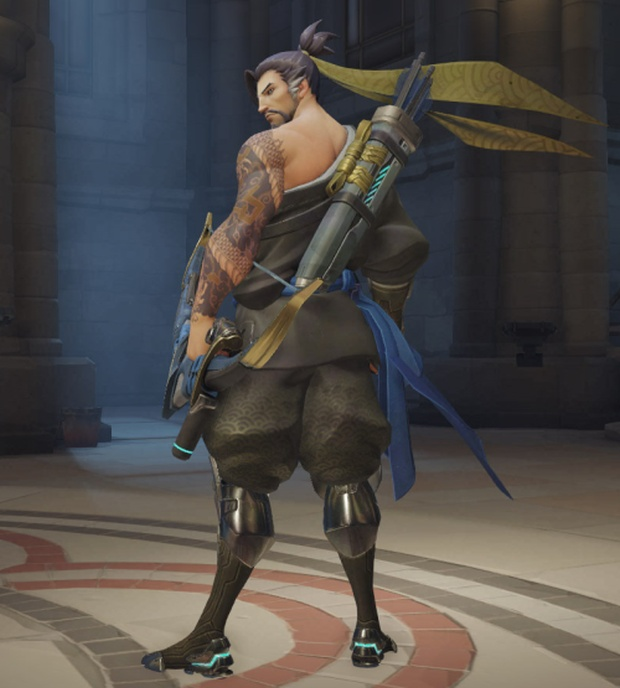 Overwatch Hanzo over the shoulder pose