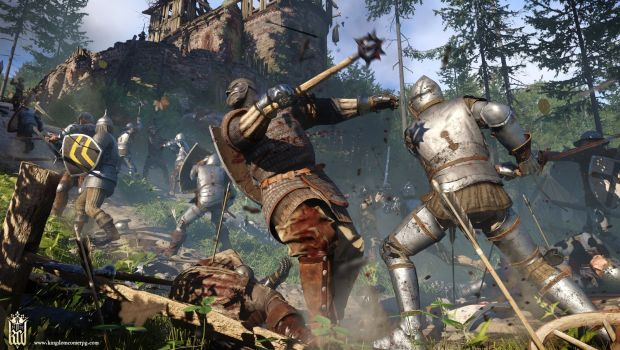 Kingdom Come: Deliverance screenshot of combat between knights