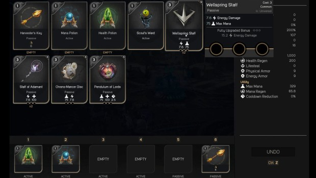 Paragon Card System has replaced items