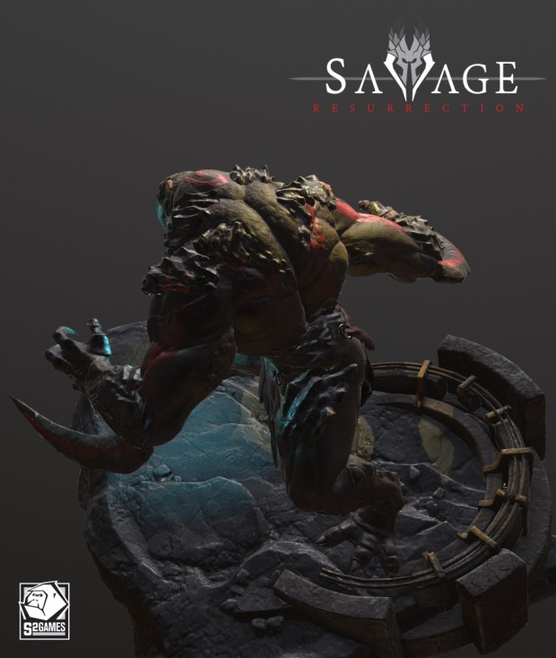 Early Model of Savage 3: Ressurection's Blood Hunter beast