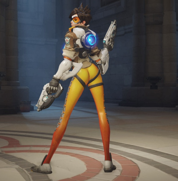 Tracer's over the shoulder pose