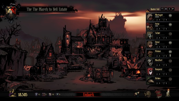 Darkest Dungeon's Hamlet is a eerie place