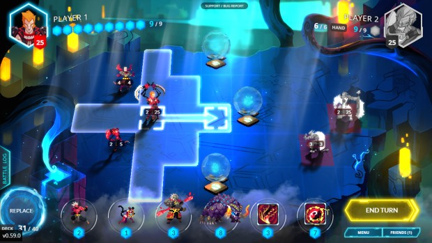 Duelyst is a combination between a tun-based strategy and a collectible card game