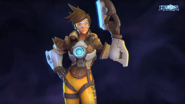 Tracer from Overwatch is coming to HOTS