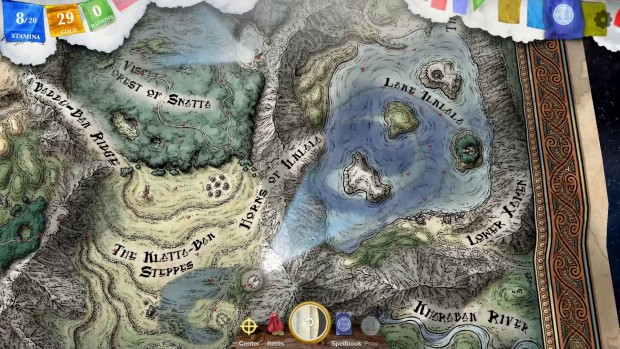 Sorcery! Part 3 features an expansive map you can explore