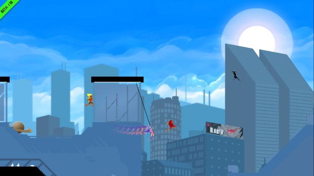 Speedrunners is a stylish, but visually simple game
