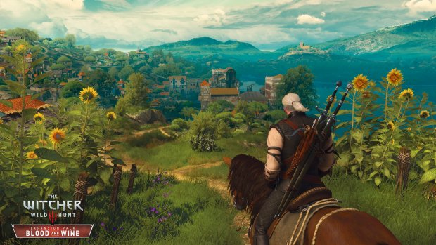 The Witcher 3: Blood and Wine scenery is remarkably colorful