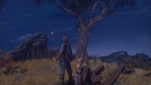Shadwen and Lilly in the moonlight