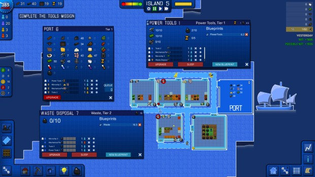 Blueprint Tycoon is a 2d business sim game