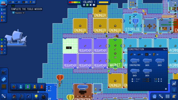 Blueprint Tycoon features some charming graphics