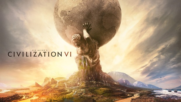 Civilization 6's promo art starring the statue of Atlas