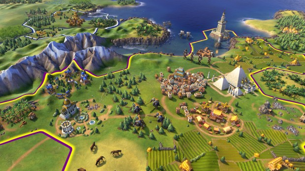 A screenshot from the upcoming Civilization VI