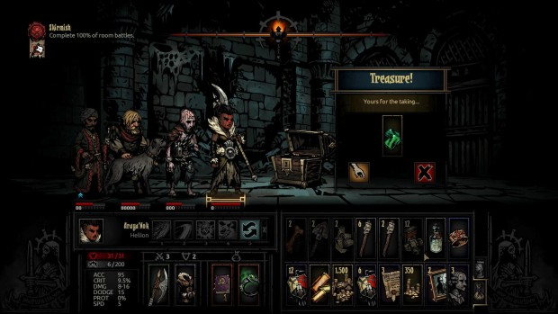 Darkest Dungeon sometimes forces you to leave loot behind