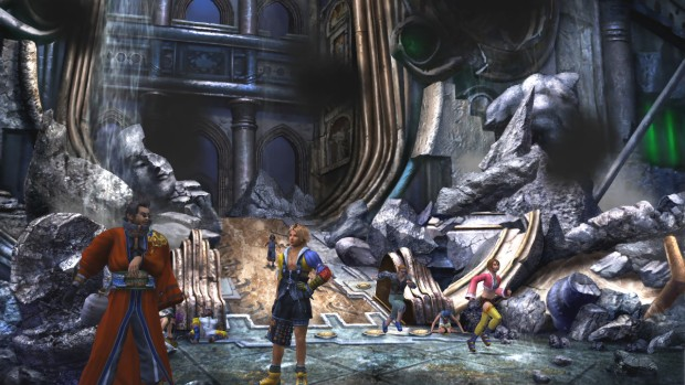 Final Fantasy X/X-2 Remaster multiple characters screenshot