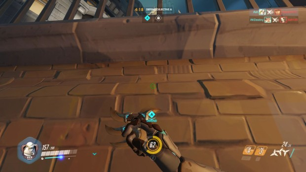 Genji has issues with wall climbing