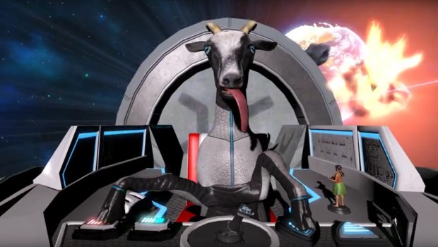 Goat Simulator allows you to pilot your own spaceship... as a goat!