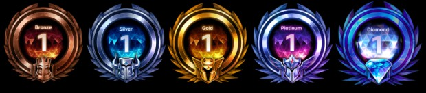 Heroes of the Storm league ranked badges
