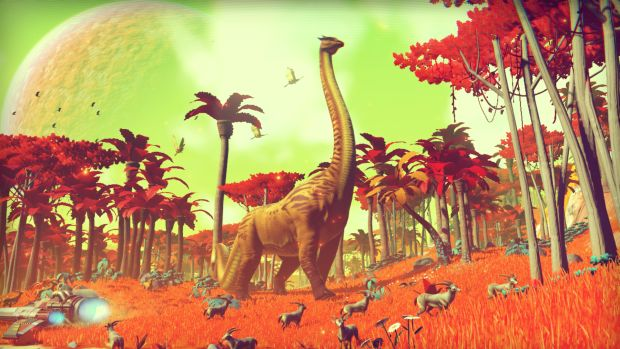 No Man's Sky alien dinosaurs and deer