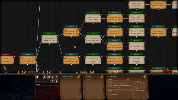 Overfall's story builder or map editor