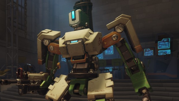 Overwatch close-up screenshot of Bastion