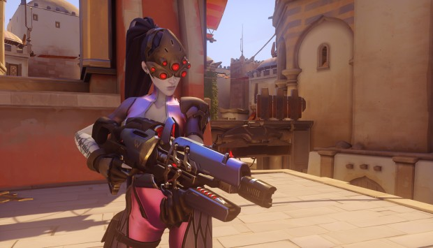 Widowmaker from Overwatch with her ultimate active