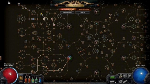 Path of Exile skill tree is ridiculously big