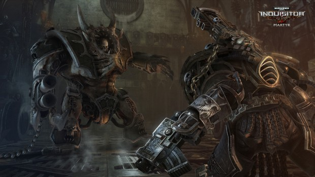 Warhammer 40k: Inquisitor - Martyr close up screenshot of a boss fight