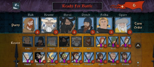 Banner Saga 2's Survival Mode update brought in the ability to chose your combat team