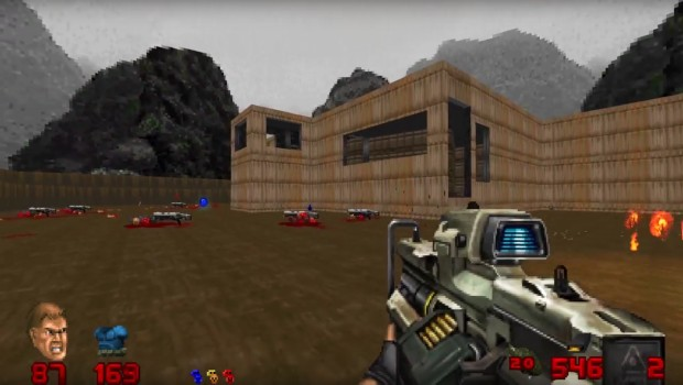 Brutal Doom mod allows you to use the repeater rifle from Doom 2016