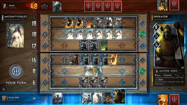 Gwent: The Witcher Card game in-game screenshot