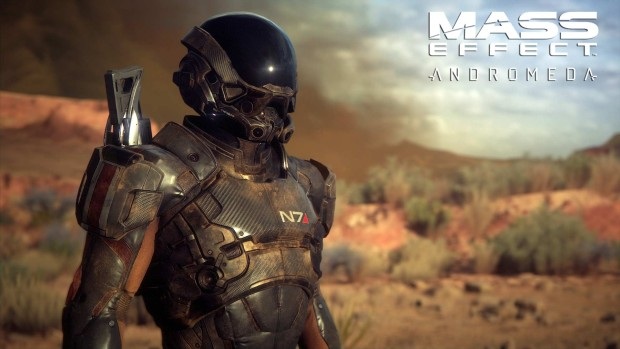 Mass Effect: Andromeda Pathfinder in the desert screenshot